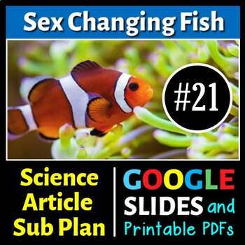 Science Literacy Reading #21 - Sex Changing Fish - Seconda
