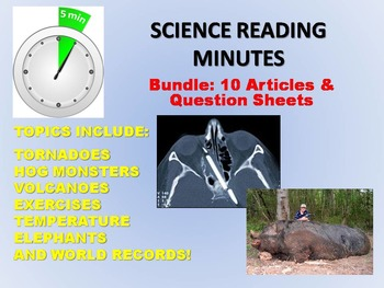 Science Reading Minutes (10 Article Bundle)