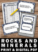 Rocks and Minerals Task Cards Earth Science Center Games &