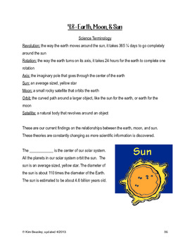 Science SOL 4.8 Earth Moon and Sun Review