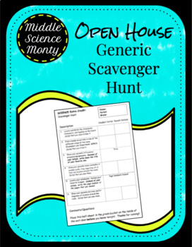 Science Scavenger Hunt for Open House