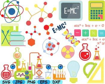 Science School Clip art svg math atom book experiment less