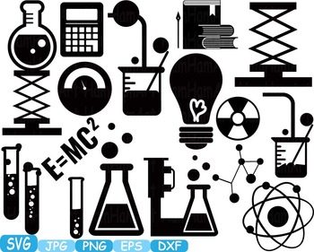 Science School SVG clipart scientist chemistry shape outli