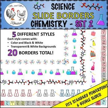 Science Slide Borders: Chemistry - Set 2 {For Use in Ppt o