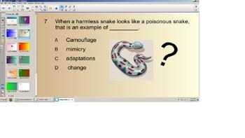 Science Smart board Senteo Quiz, Physical Adaptations, Thi