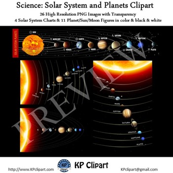 Science Solar System and Planets Clipart