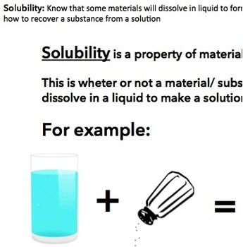 Science Solubility Investigation