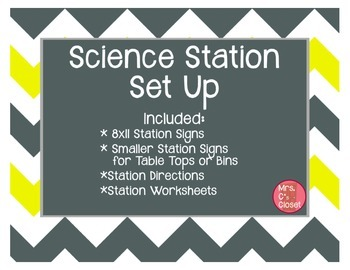 Science Station Set Up