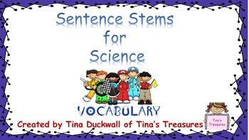 Science Stem Sentences