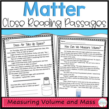 Matter: Mass and Volume Science Stories