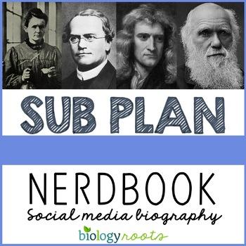 Science Sub Plan- Facebook Biography