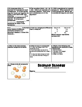 Science Success-Compounds and Elements
