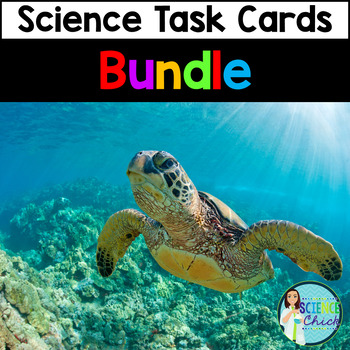 Science Task Cards MEGA Bundle - 31 Sets with or without Q