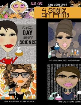 Science Teacher Digital Art Prints 8x10