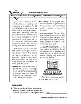 Science & Technology Words-Science in the News:Avoiding Po