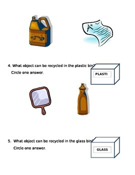 Science Test: Reduce, Reuse and Recycle