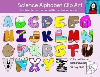 Science Themed Alphabet