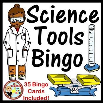 Science Tools Bingo - Classroom Activity w/ 35 Bingo Cards!