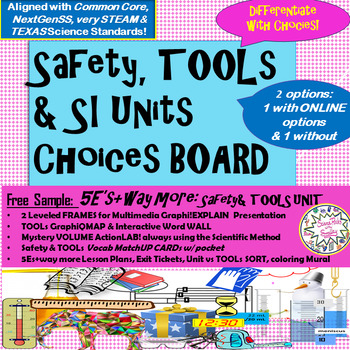 Science Tools & SI Units Choice Board