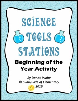 Science Tools Stations (Cards, Teacher Directions, Foldable)