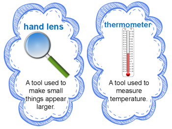 Science Tools Vocabulary Cards