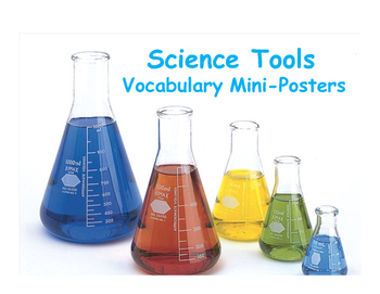 Science Tools Vocabulary Mini-Posters
