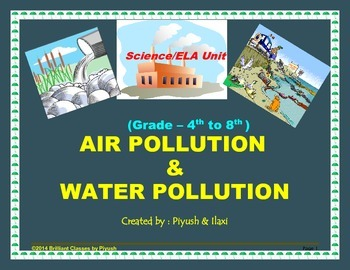 Air & Water Pollution-Basics-Causes-Pollutant-Methods to c