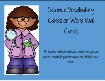 Science Vocabulary Cards