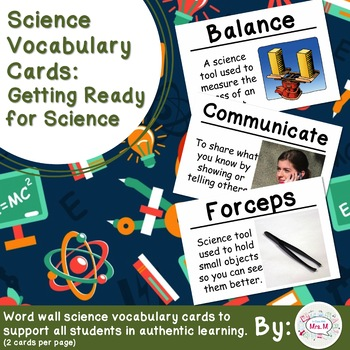 Science Vocabulary Cards: Getting Ready for Science (Large)
