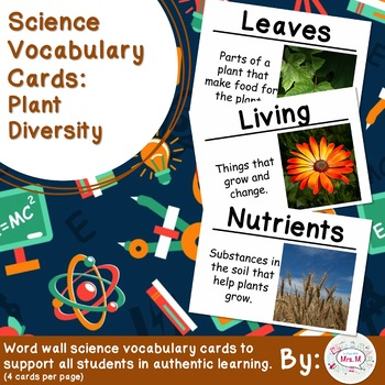 Science Vocabulary Cards: Plant Diversity