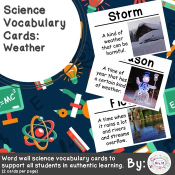 Science Vocabulary Cards: Weather (Large)