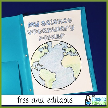 Free Science Vocabulary Folder