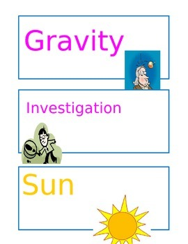 Science Vocabulary Picture Cards.