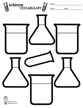 Science Vocabulary Sheet