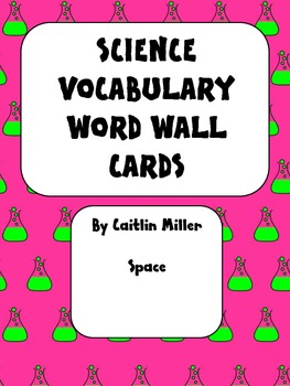 Science Vocabulary Word Wall Cards Space