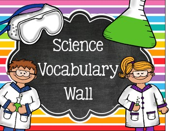 Science Vocabulary Word Wall Sign
