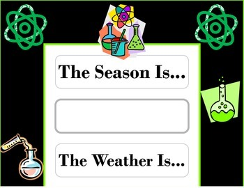 Science Weather Chart! Science Bulletin Board! Science The
