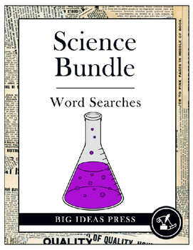 Science Word Search Bundle Pack (Grades 3-5)