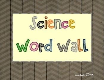Science Word Wall (5th Grade)-Ohio's Learning Standards
