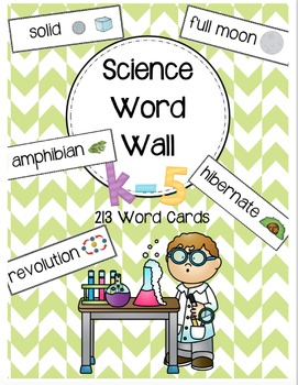 Science Word Wall K-5