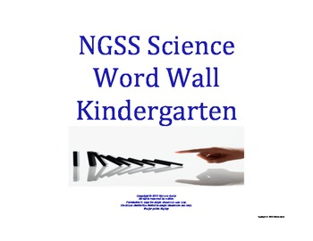 Science Word Wall K Kindergarten Vocabulary NGSS National