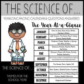 Science Yearlong Pacing Calendar