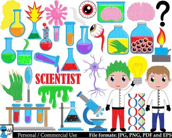 Science and Experiment -  Clip Art Digital Files Personal