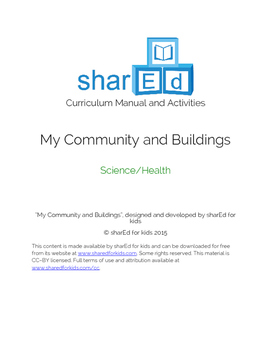 My Community - Science and Health Activities