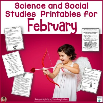 Science and Social Studies Printables for February by Elementary ...