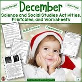 December Social Studies and Science Printables