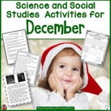 December Social Studies and Science Printables
