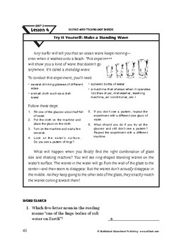 Science and Technology Words-Try It Yourself: Make a Stand