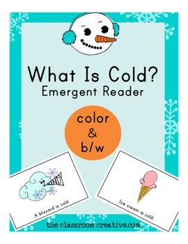 Science and Winter Emergent Reader: What Is Cold?