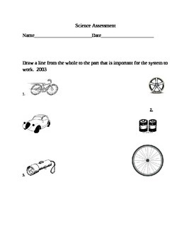 Science assessment for systems